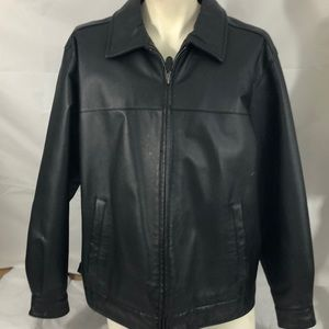 St. johns bay faux black leather coat XL/XG